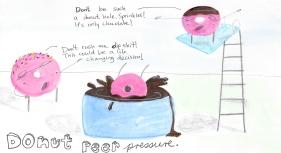 """Real friends """"donut"""" peer pressure friends."""