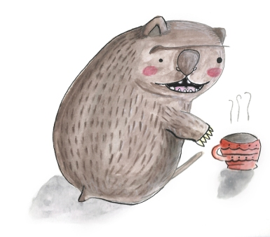 Wombats enjoy mornings and hot tea. Word.